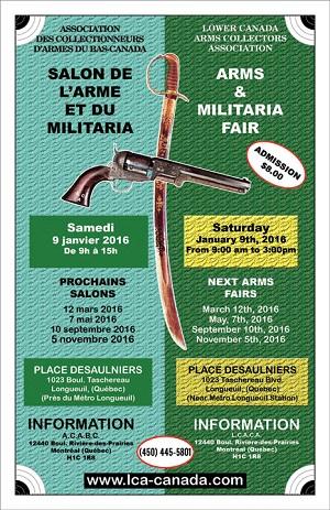 Salon de l arme et du militaria longueuil association for Salon des armes a feu