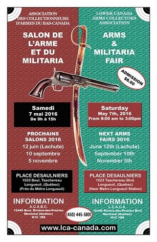 04 mai 2016 association qu b coise propri taires d for Salon des armes a feu